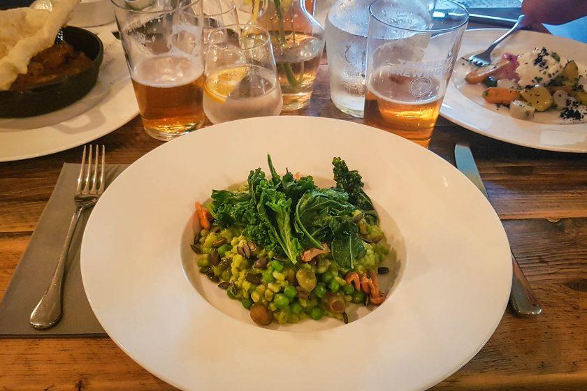 Vegan risotto at Provender in Melrose