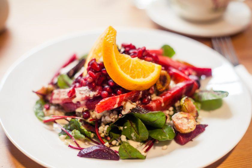 Vegan winter salad at Holy Cow vegan cafe in Edinburgh