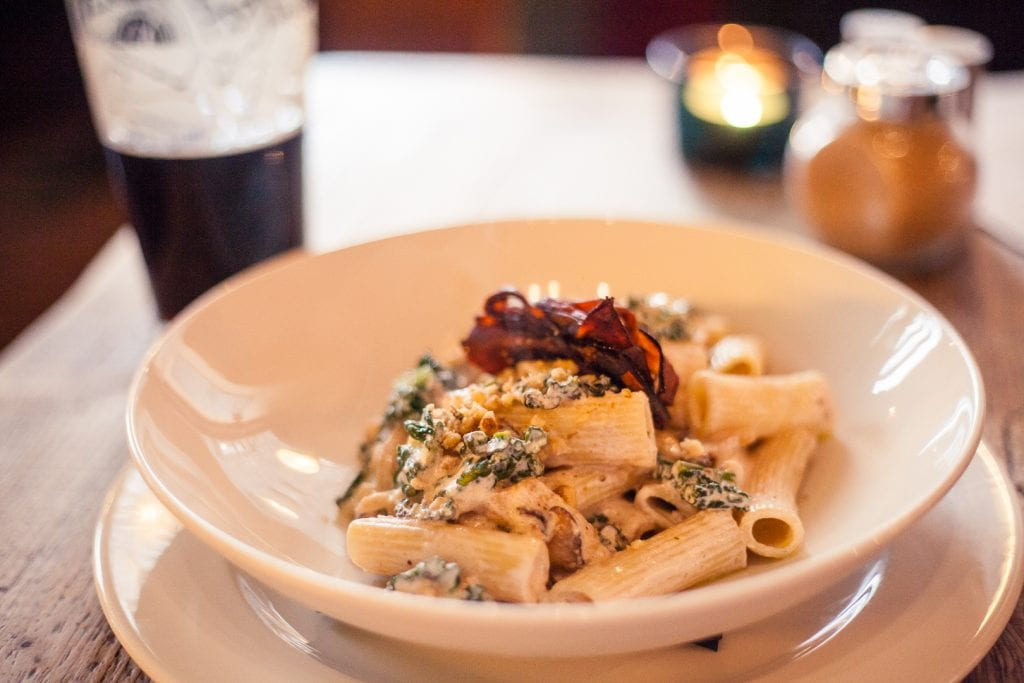 Rigatoni at Harmonium in Edinburgh.