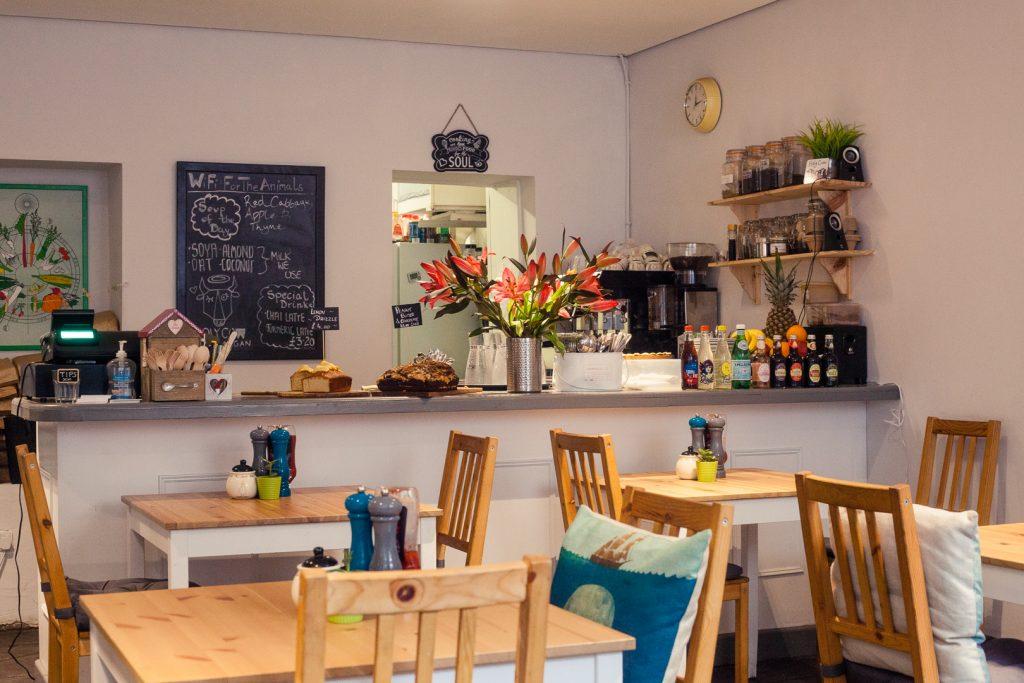 Holy Cow vegan cafe in Edinburgh
