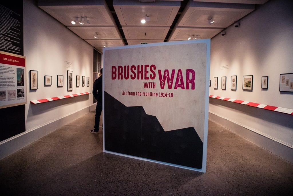 Brushes with War exhibition at the Kelvingrove Museum in Glasgow.