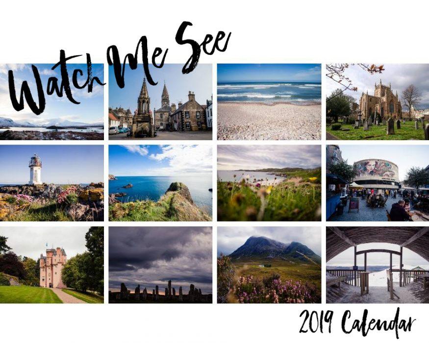 2019 Scotland photo calendar by Watch Me See