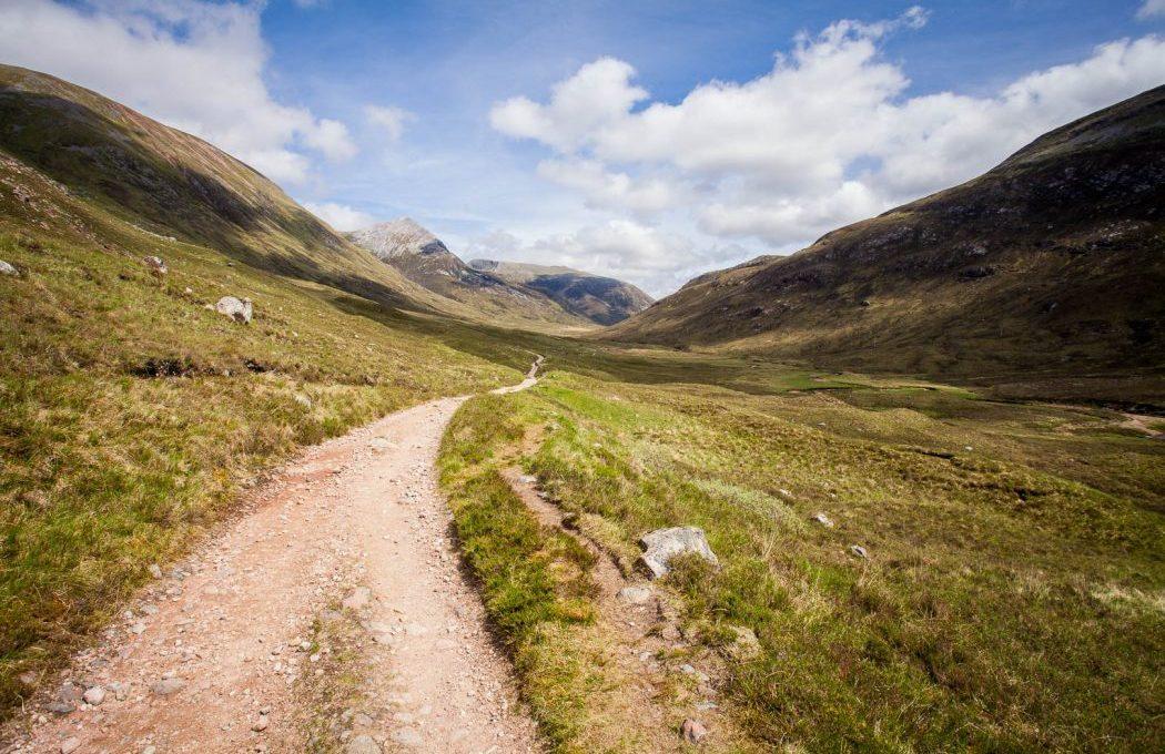 Walking the West Highland Way.