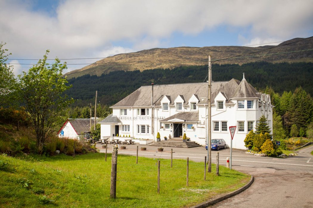 Bridge of Orchy hotel in Scotland.