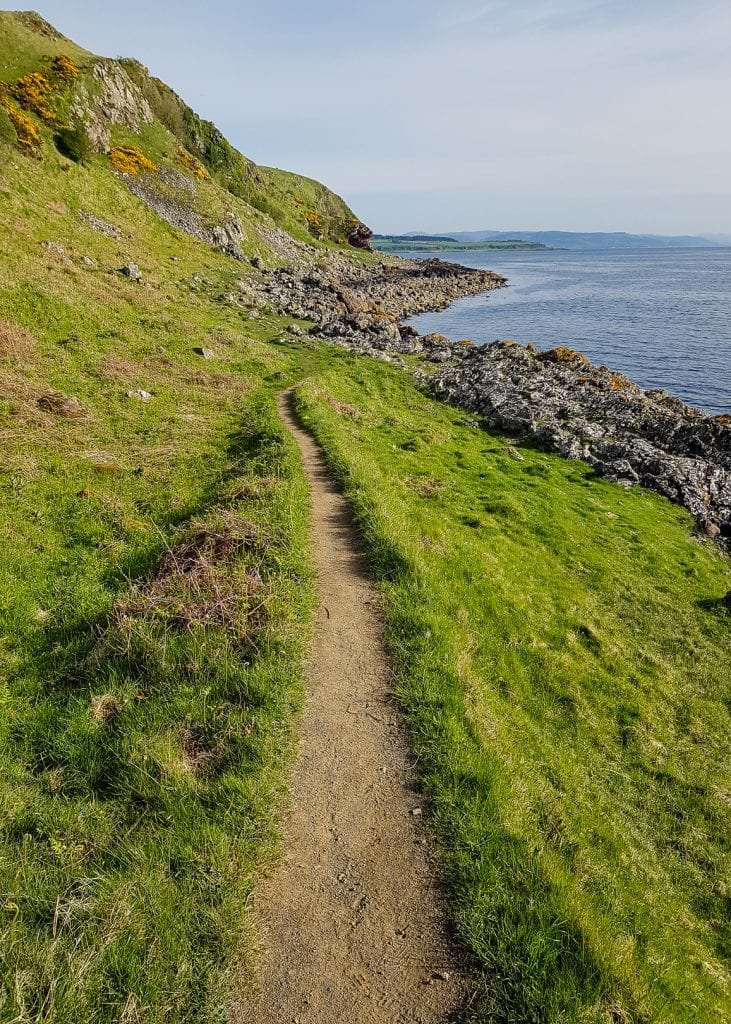 A coastal path near Kilchattan Bay on the Isle of Bute.