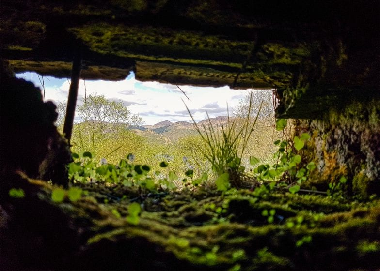 The view from the World War II bunker on the Isle of Bute.