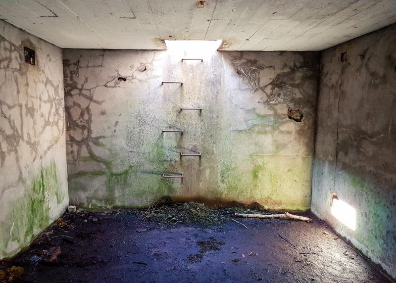 The World War II bunker on the Isle of Bute.