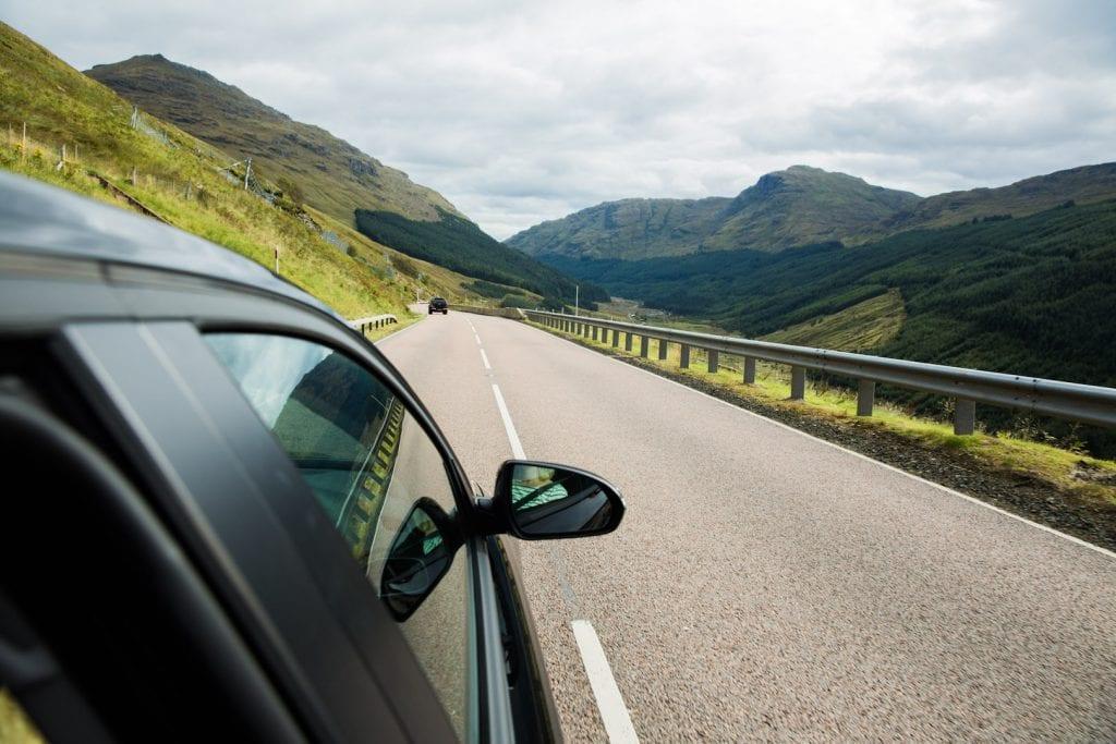 Road trip in Scotland.