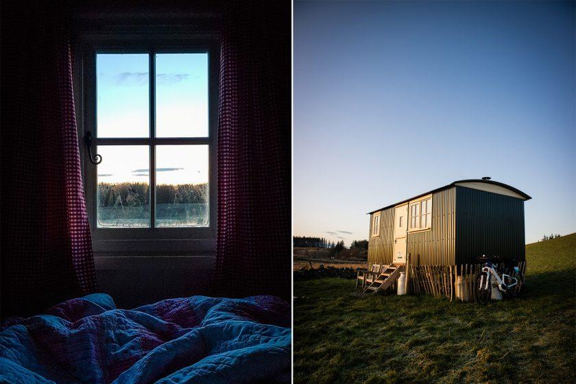 creeside escape shepherd's hut in glentrool