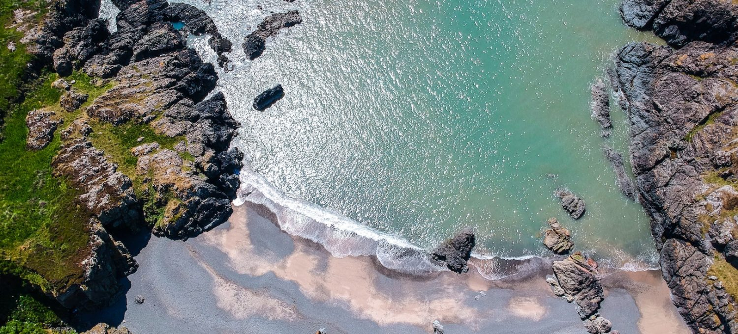 Scottish beach drone picture