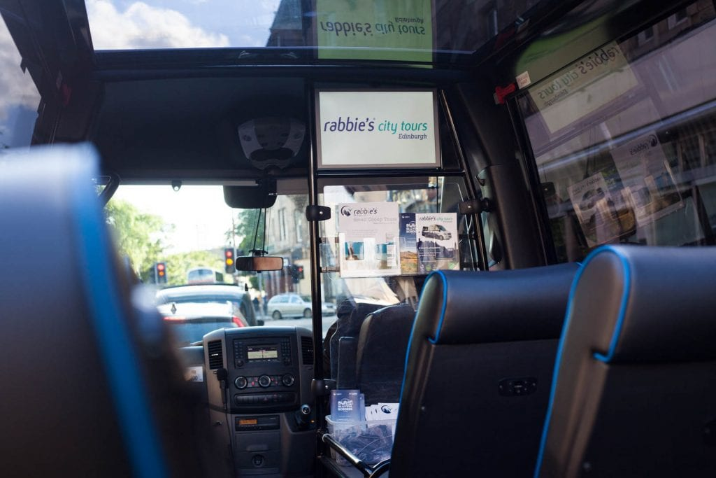 Rabbie's Edinburgh city tour.