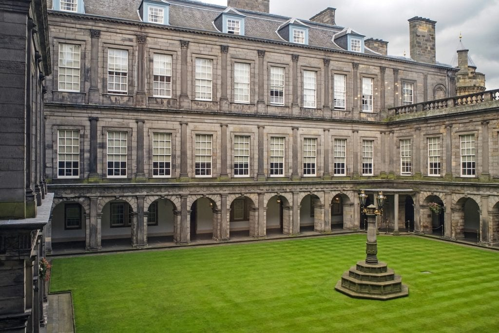 The Palace of Holyroodhouse in Edinburgh