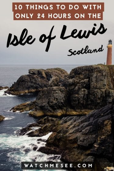 This is a guide to 10 top things to do in Lewis - all easily doable on a day-long road trip on the Isle of Lewis in Scotland!