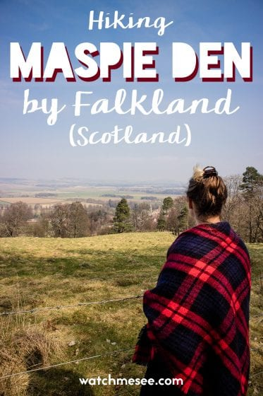 The walk up Maspie Den offers great views over Falkland village in Scotland.
